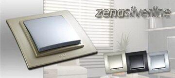 Розетки и выключатели под металл EL-BI Zena Silverline